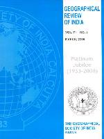 Journal: Geographical Review of India